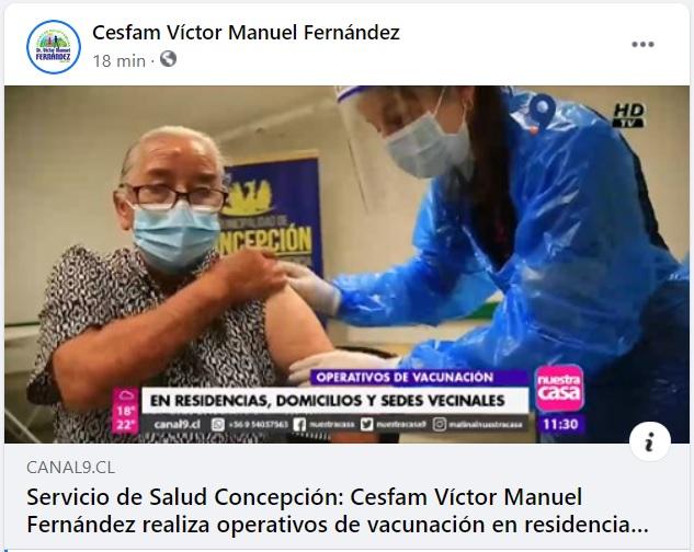 Cesfam Víctor Manuel Fernández Realiza Operativos De Vacunación En Residencias, Domicilios Y Sedes Vecinales